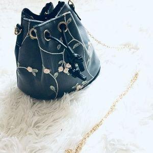 Handbags - {bucket bag} Floral lace bucket handbag
